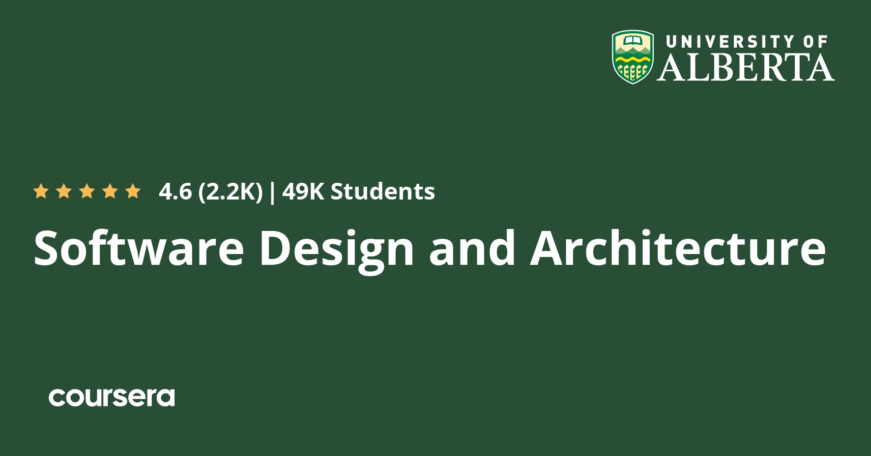 Software Design And Architecture Coursera