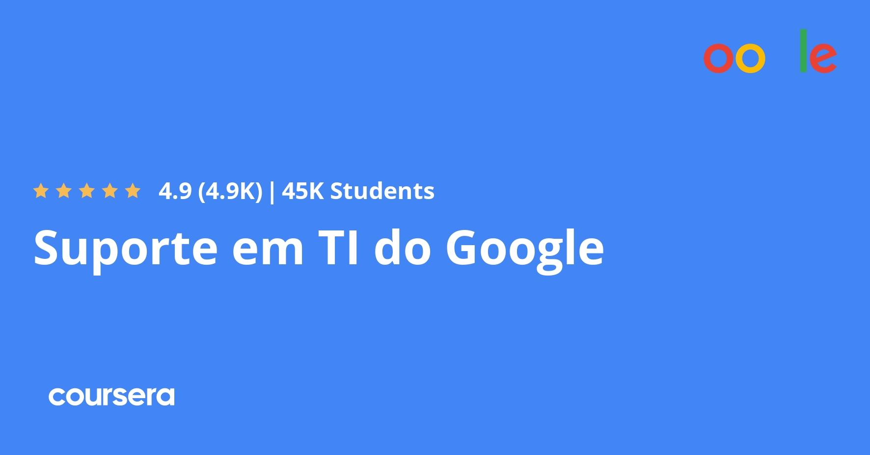 Certificado Profissional Suporte Em Ti Do Google Coursera
