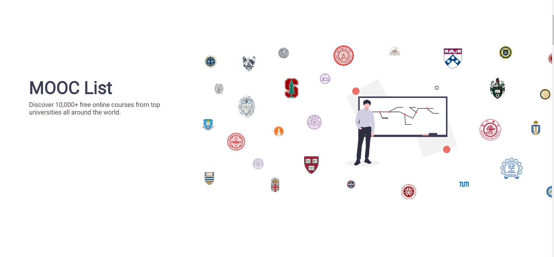 MOOC List - Get free education from the top universities of the world