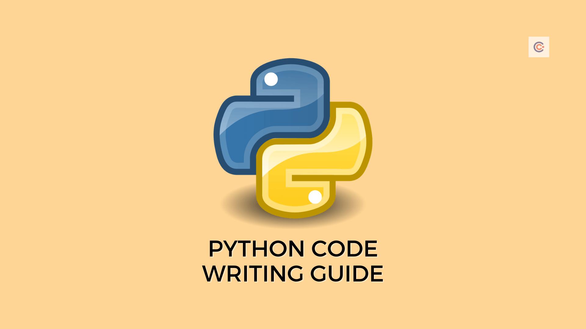 PEP8 - Python Code Writing Guide
