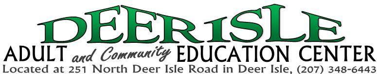 Deer Isle Adult Education logo