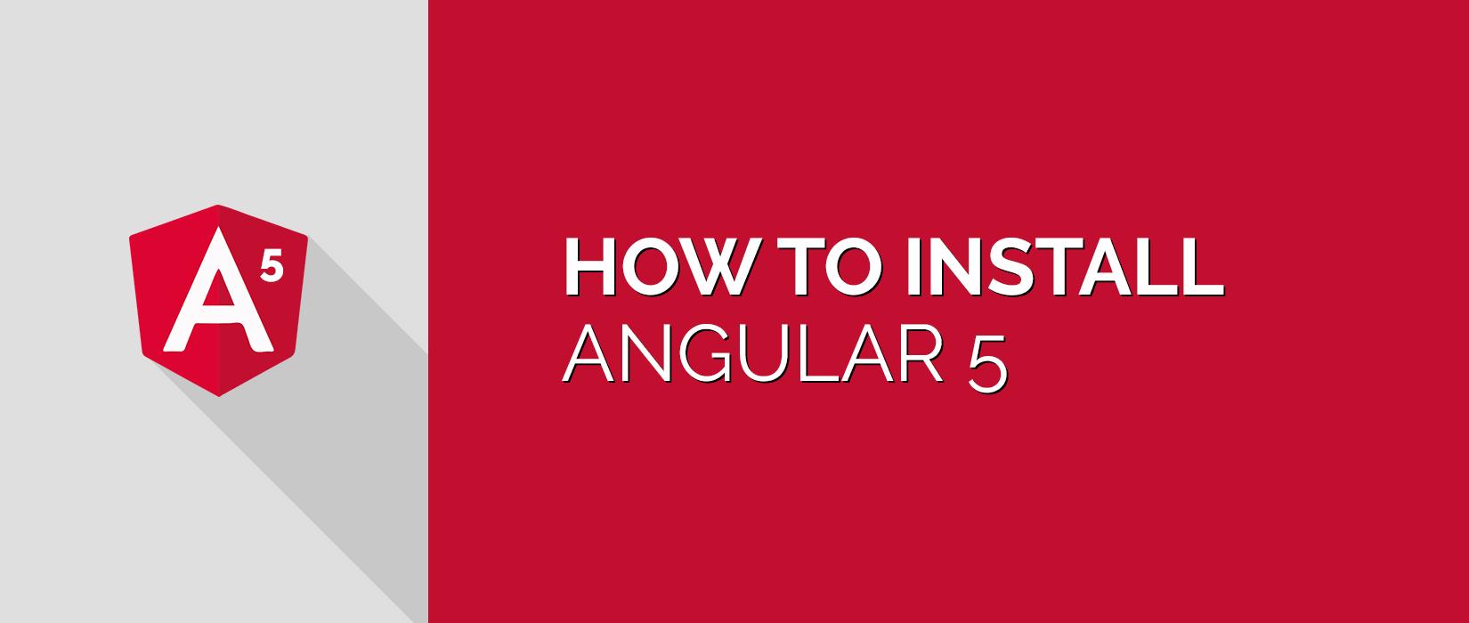 install angular 5 cli npm