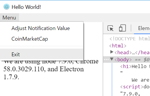 Working with Electron Menus - Tutorial