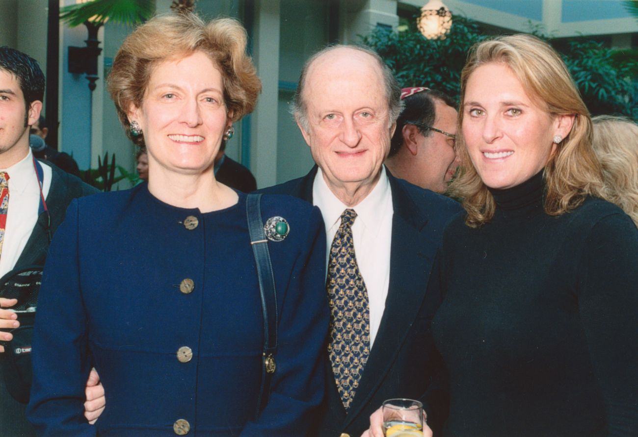 From left to right-Judith Ginsburg, Eli N. Evans and Susan Crown