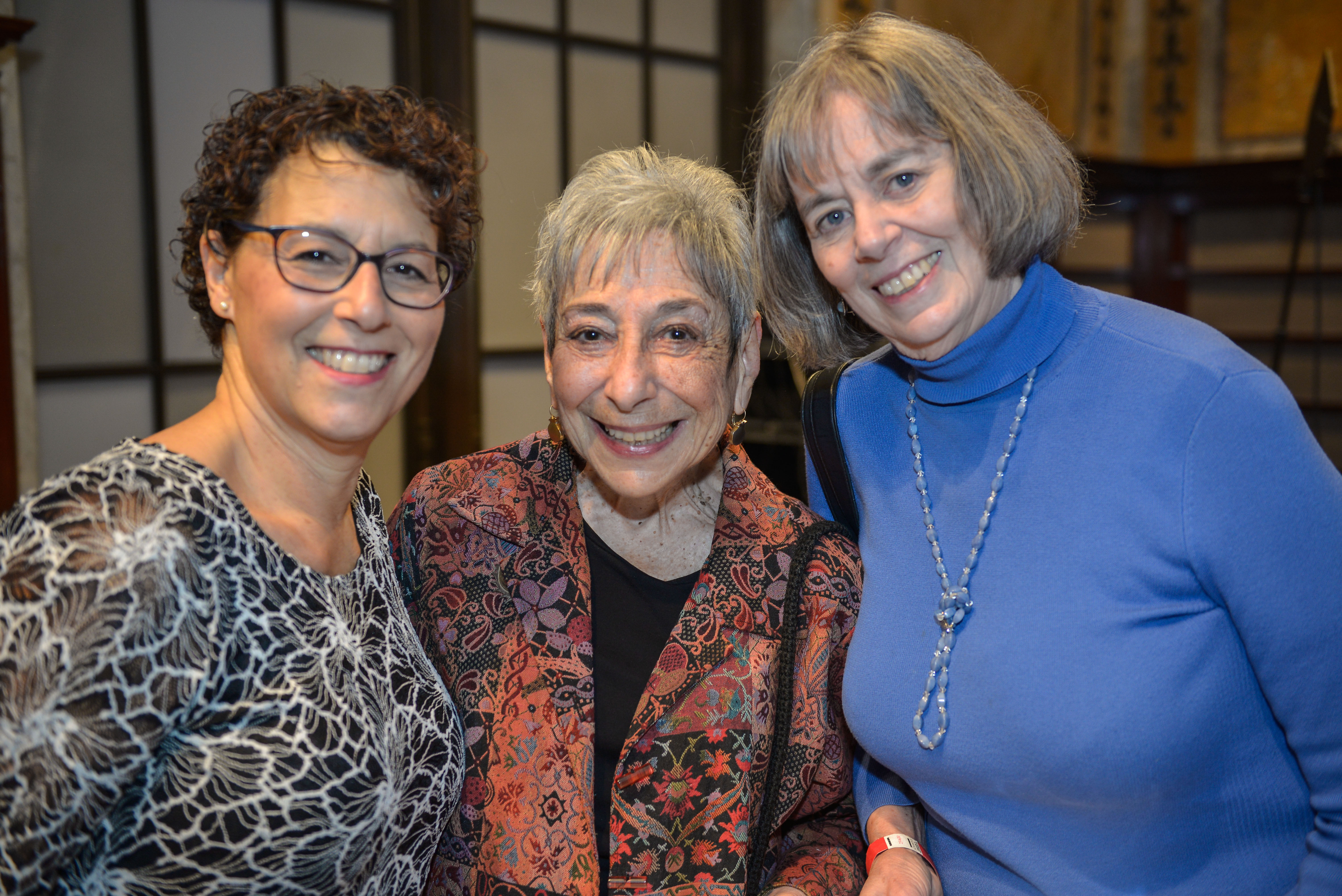 From left: 2017 Covenant Award recipient Jane Shapiro, 1995 Covenant Award Recipient Peninnah Schram and Covenant Board member Betsy Dolgin Katz.