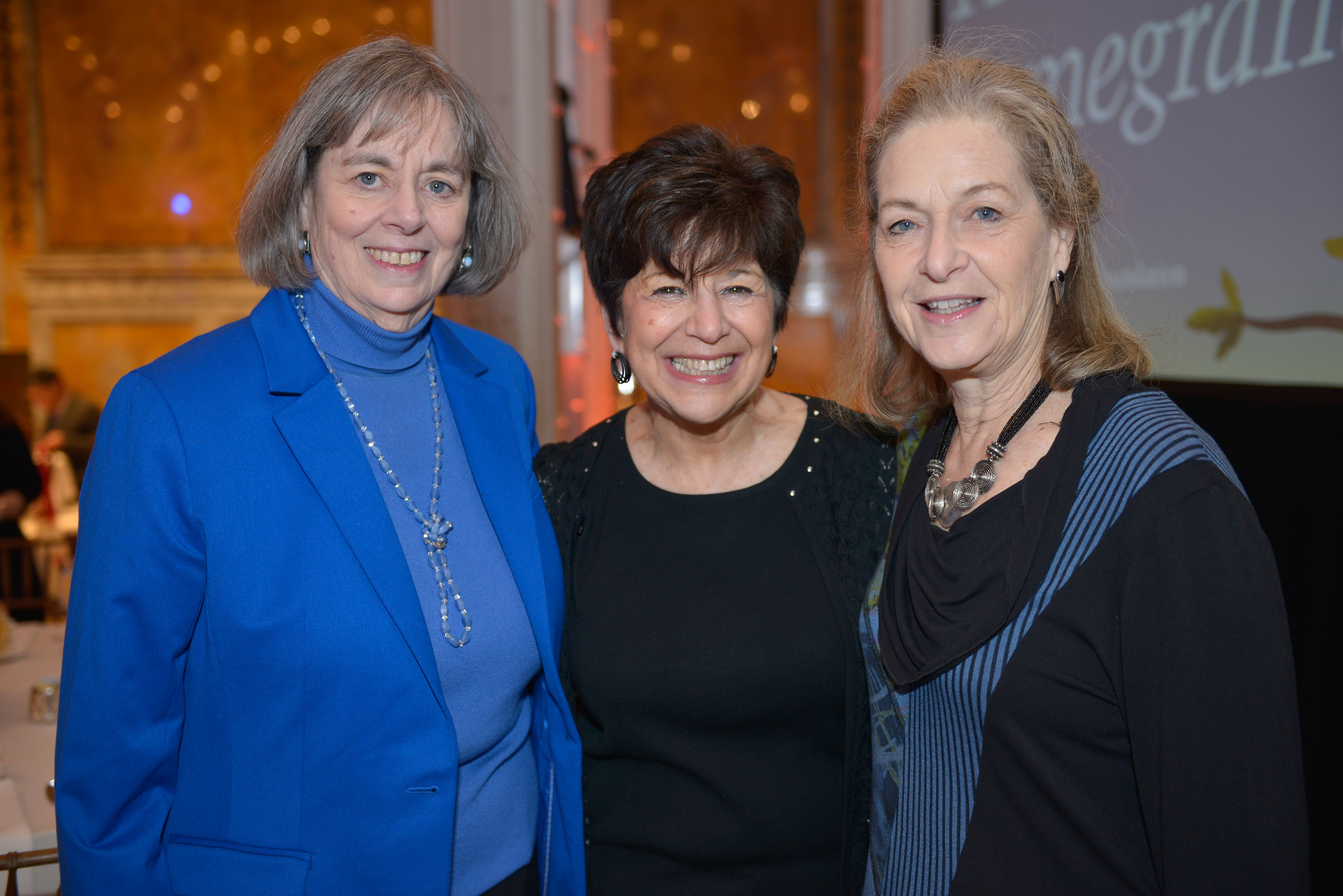 From left: Covenant Board member Betsy Dolgin Katz, Covenant Foundation Executive Director and 1991 Covenant Award recipient Harlene Appelman and Arnee Winshall.