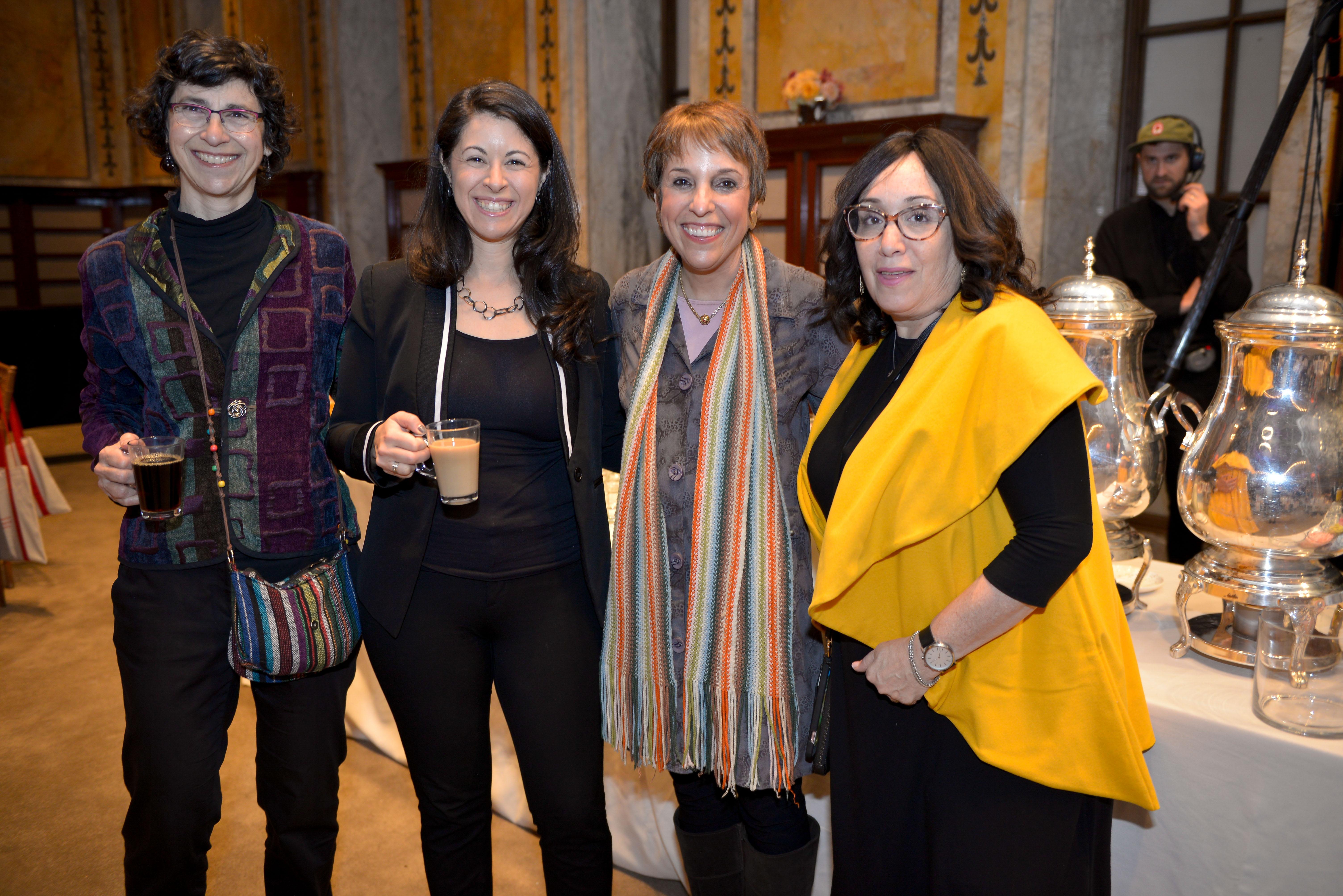 From Left: 2010 Covenant Award recipient Beth Huppin, 2011 Pomegranate Prize recipient and Covenant Board member Rabbi Shira Koch Epstein, 2011 Covenant Award recipient Amy Skopp Cooper, and 2012 Covenant Award recipient Gitta Jaroslawicz-Neufeld.