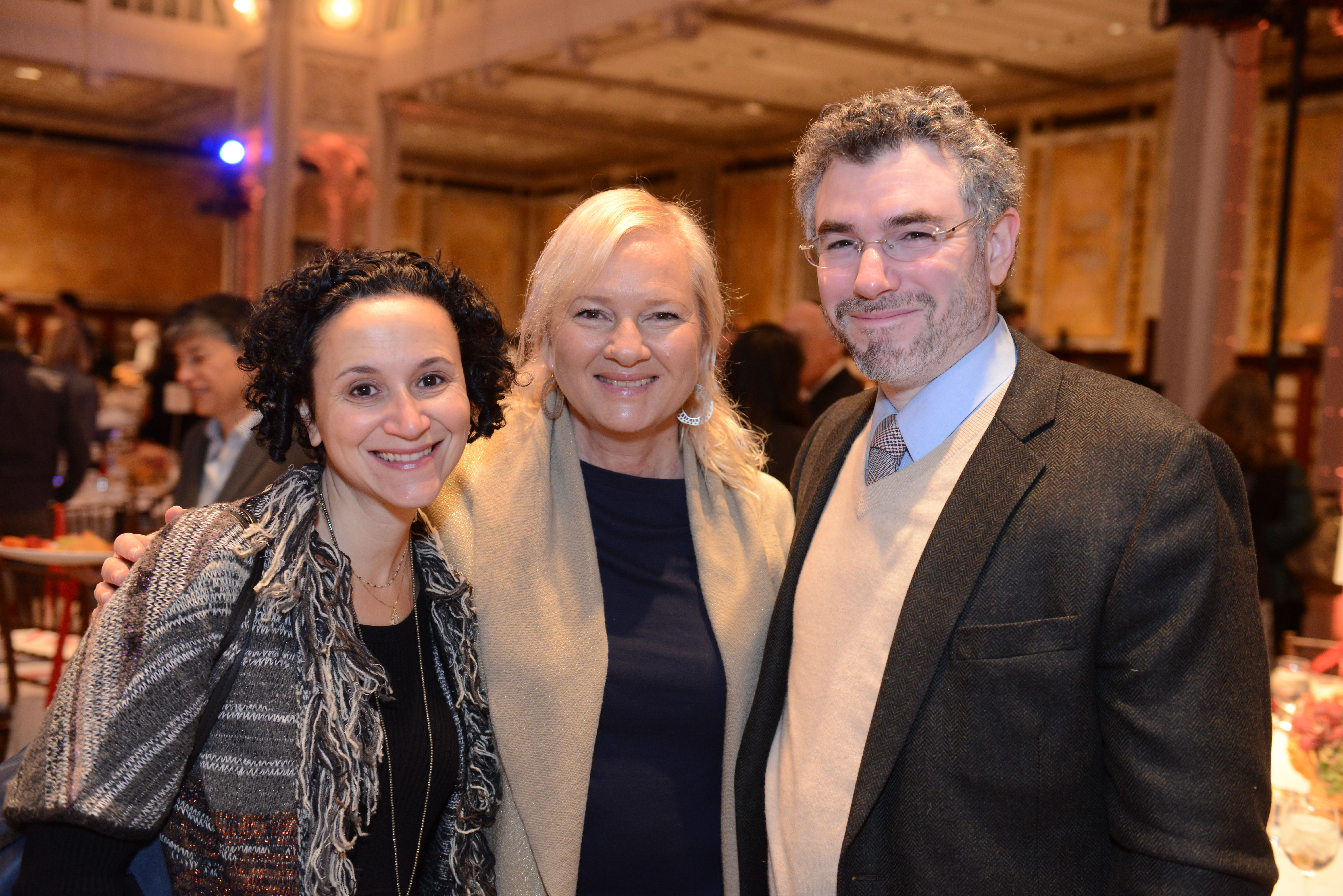 From left: Dr. Miriam Heller Stern, 2012 Covenant Award Recipient Karina Zilberman, and Rabbi Dr. Ariel Burger.
