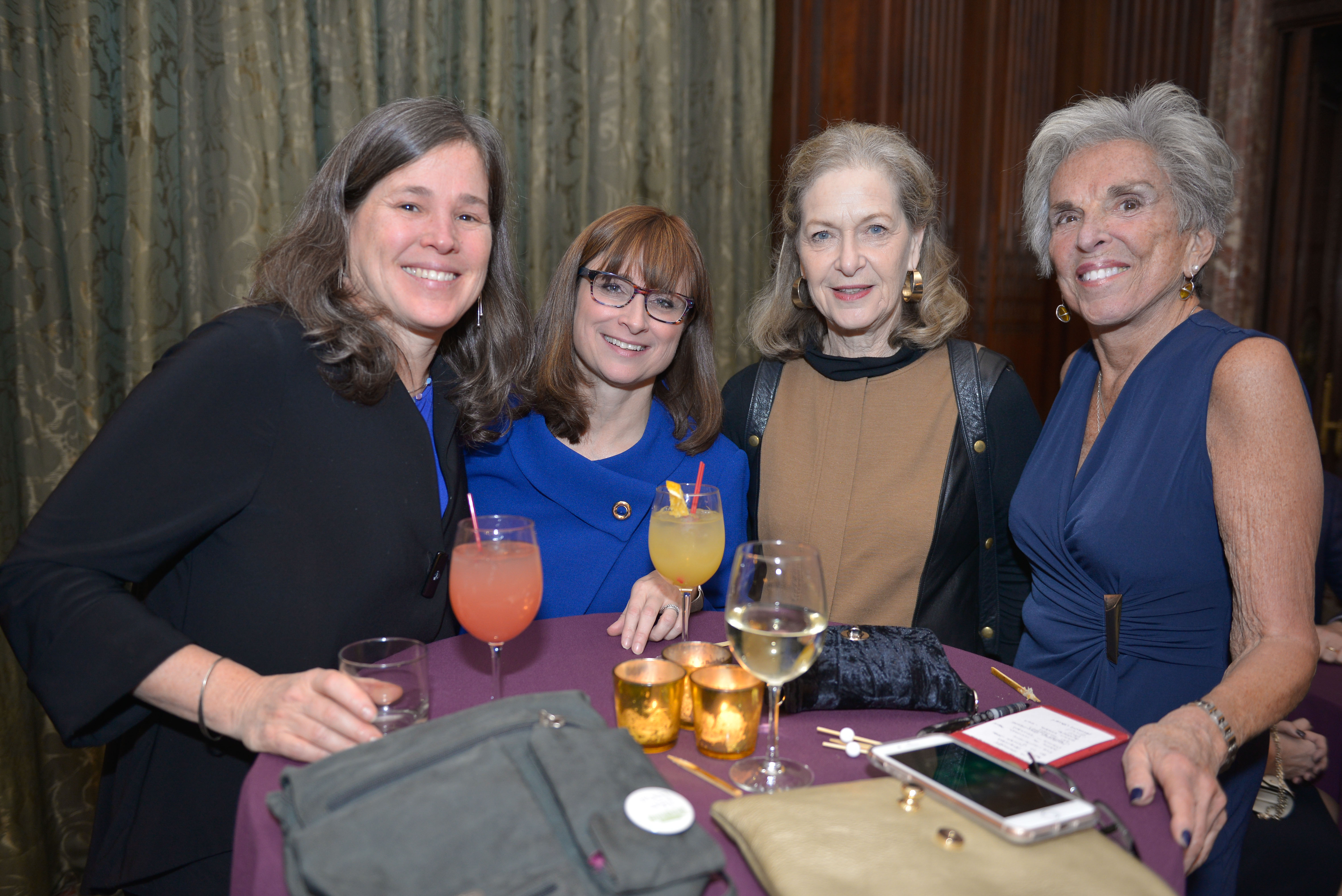 From left: 2015 Covenant Award Recipient Amy Meltzer, 2009 Covenant Award Recipient Dr. Erica Brown, Arnee Winshall, and Judy Meltzer.