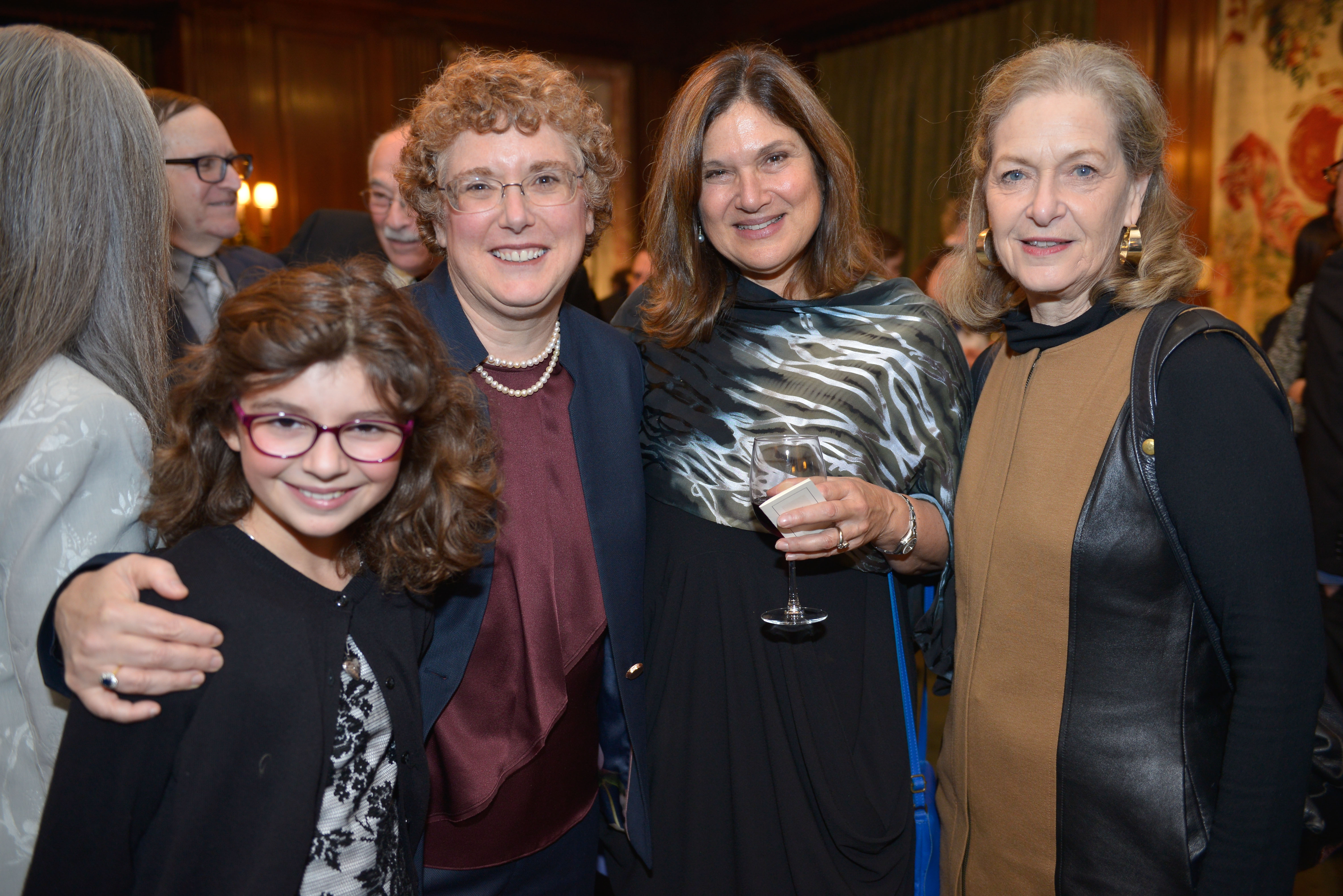 From left: Jordana Kaplan-Tanchel, 2018 Covenant Award Recipient Dr. Susie Tanchel, 2008 Covenant Award Recipient Diana Ganger, and Susie's nominator Arnee Winshall.
