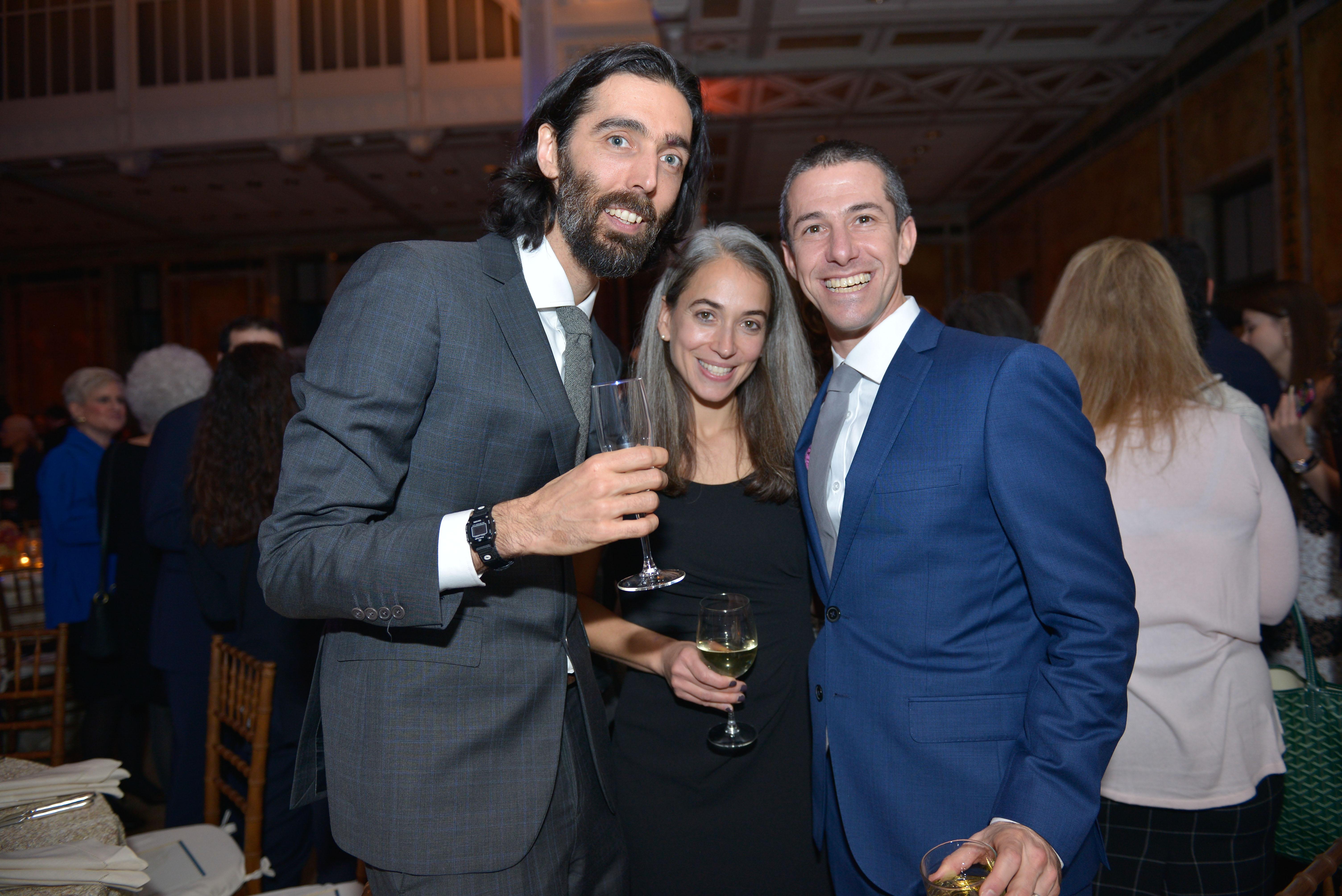 From left: 2017 Pomegranate Prize Recipient Yoni Stadlin, Rachel Kaunfer, and 2018 Pomegranate Prize Recipient Oren Kaunfer.