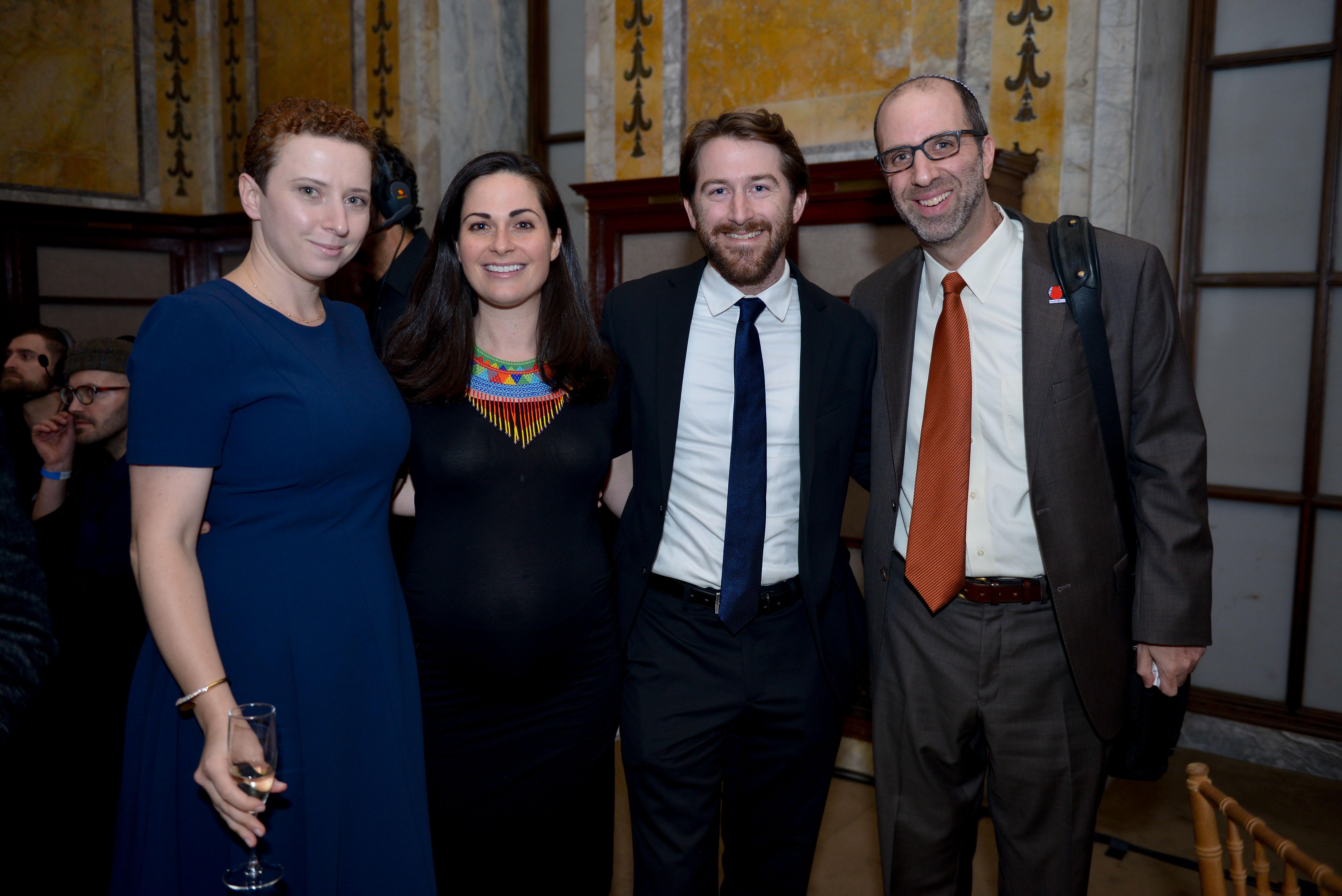 From left: Yelena Pogorelsky, Faith Brigham Leener, Rabbi Jon Leener, and Joshua Chadajo