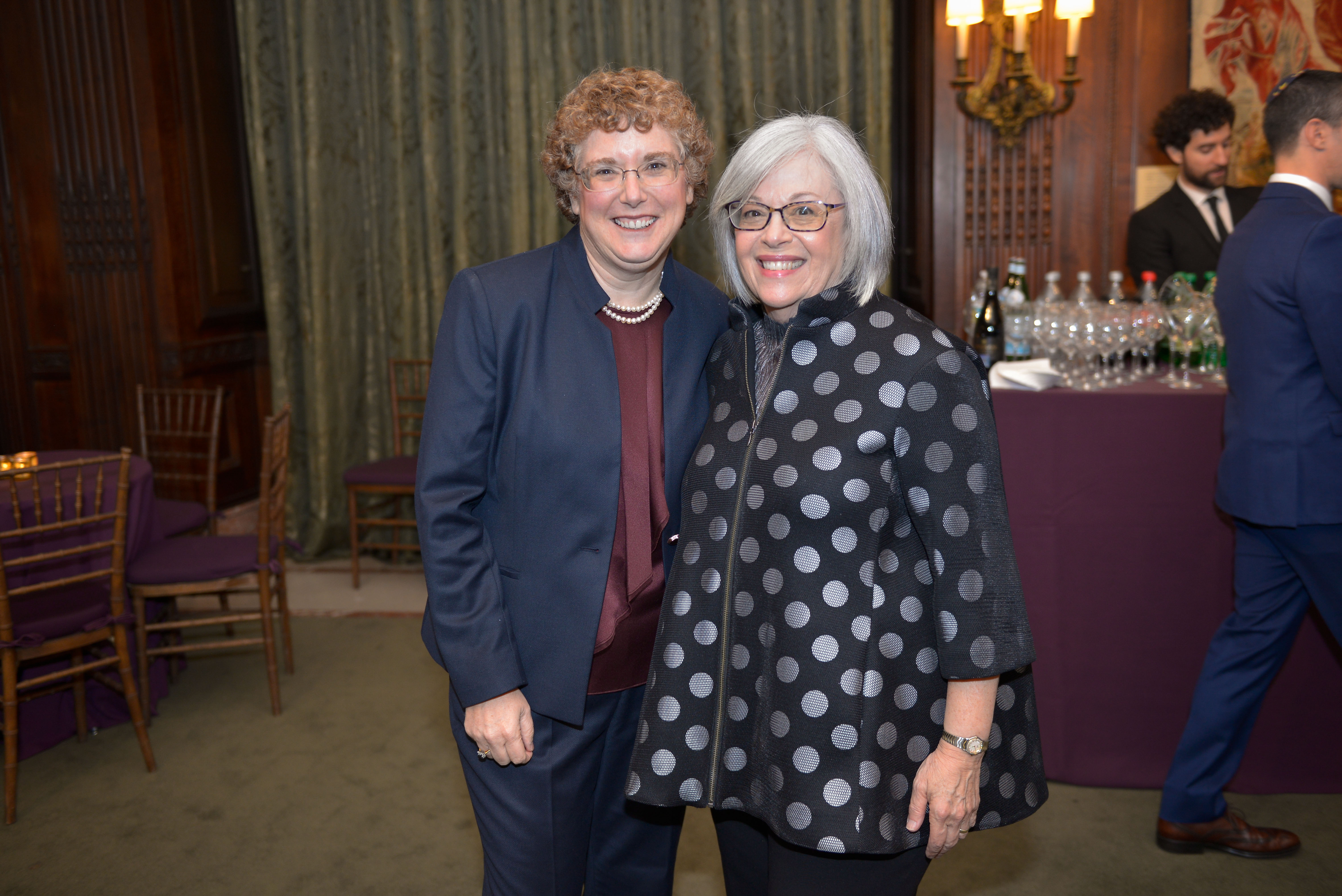 From left: 2018 Covenant Award Recipient Dr. Susie Tanchel and Covenant Foundation Board Chair Chery Finkel.