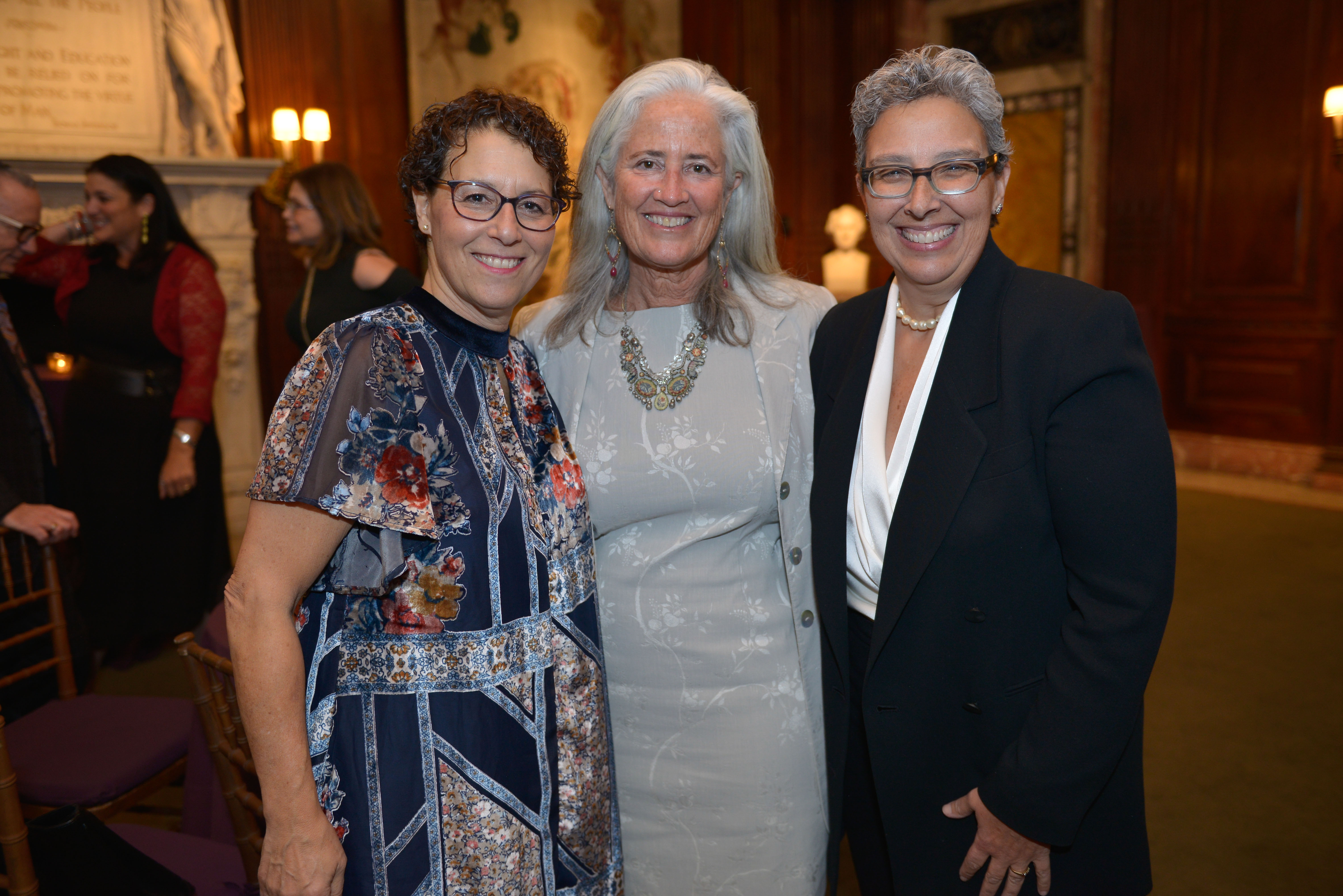 From left: 2017 Covenant Award Recipient Dr. Jane Shapiro, 2018 Covenant Award Recipient Deborah Newbrun, and 2016 Covenant Award Recipient Rabbi Benay Lappe.