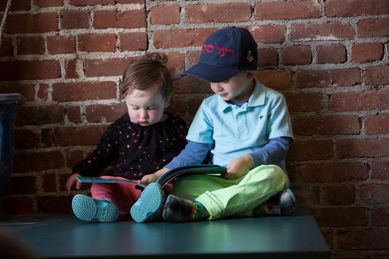 Grayden and Mischa reading