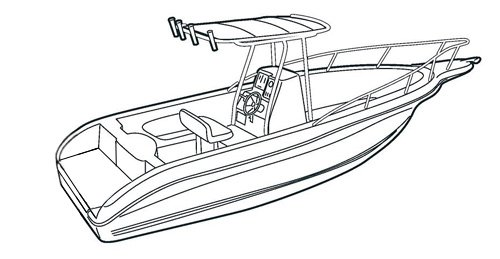 Line Art Boat : Carver boat covers for v hull center console fishing