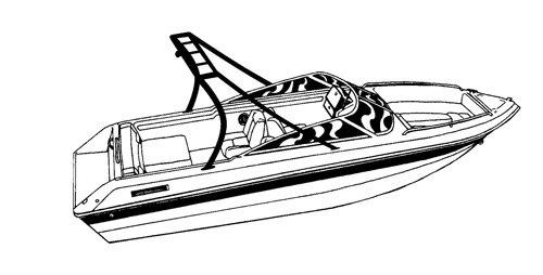 Carver Boat Covers For V Hull Runabout Boat With Ski Tower