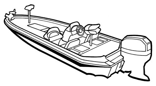 Line Art Boat : Boat covers for angled transom bass boats direct