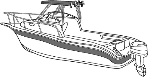 Line Art Boat : Carver boat covers for walk around cuddy with hard top