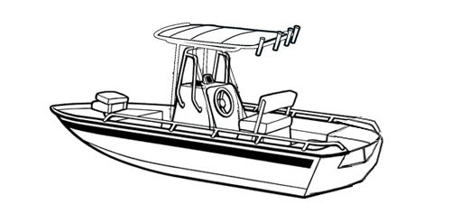 Carver Boat Covers for V-Hull Center Console Shallow Draft ...