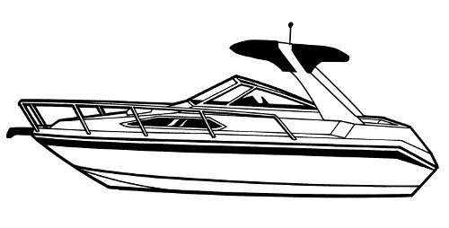 Line Art Boat : Carver boat covers for high profile cabin cruiser with