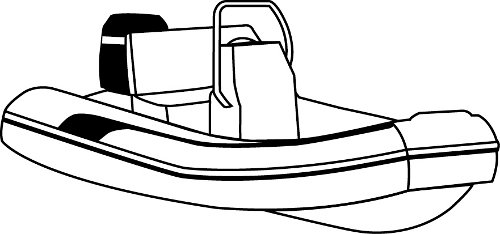 Line art of the Inflatable Blunt Nose with Tall Center Console boat style