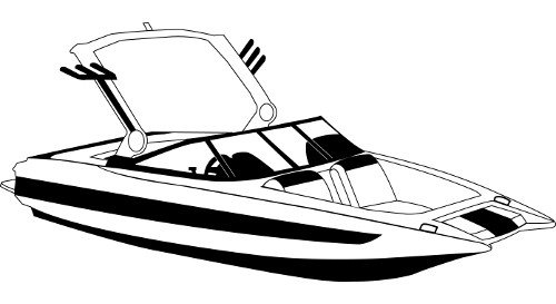 Line Art Boat : Over the tower covers for tournament ski boats with wide bows