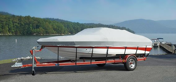 Covered Sea Ray boat