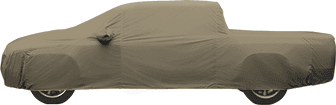 Tan Flannel Cover on Truck