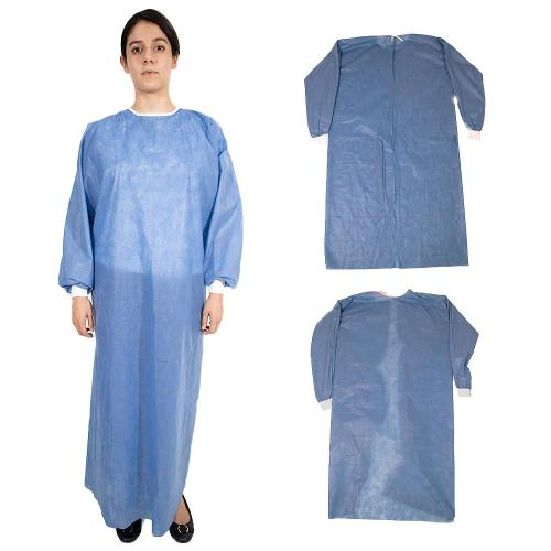 FDA Certified AAMI LEVEL 2 Disposable Surgical Gown / Non-Sterile - Blue (X Large)