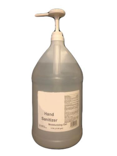 Lemon Scented 70% Alcohol Hand Sanitizer Gel - Gallon w/ Pump (4/Case)