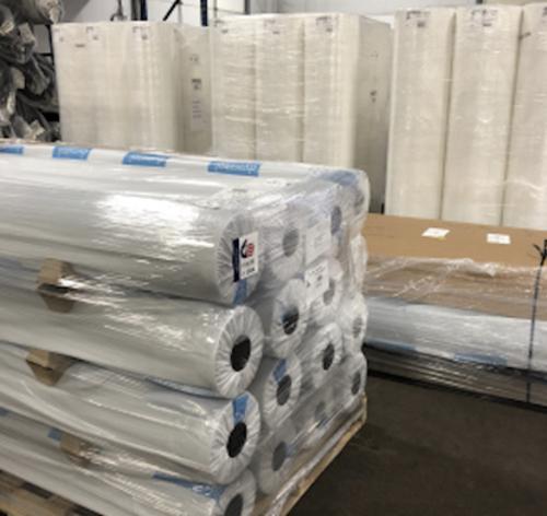 94 in x 600 yds GLF Polypropylene Spunbond Non-Woven Material / 30 GMS - White