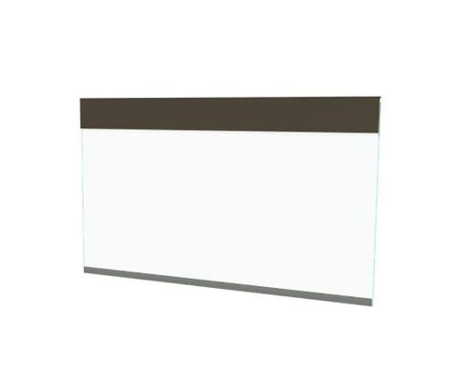 9 ft x 4 ft Roll-A-Shade Vinyl Barrier Shade - Motorized