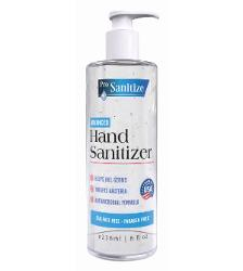 Pro Sanitize 70% Alcohol Advanced Hand Sanitizer Gel - 8 oz w/ Pump (24/Case)