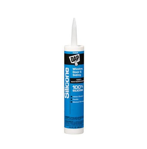DAP 100% Silicone Clear Window & Door Sealant - 9.8 oz Tube