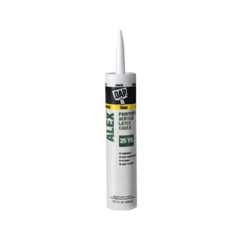DAP ALEX Painter's White Latex Caulk - 10.1 oz Tube