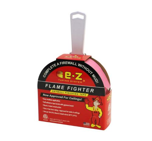 2 in x 250 ft E-Z Taping System Fire Tape Flame Fighter Drywall Finishing Tape w/ Knife
