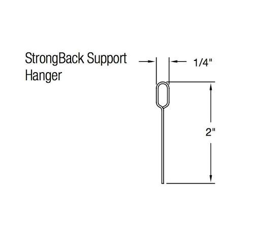 12 ft x 2 in Armstrong Drywall ShortSpan StrongBack Support Hanger - SB12