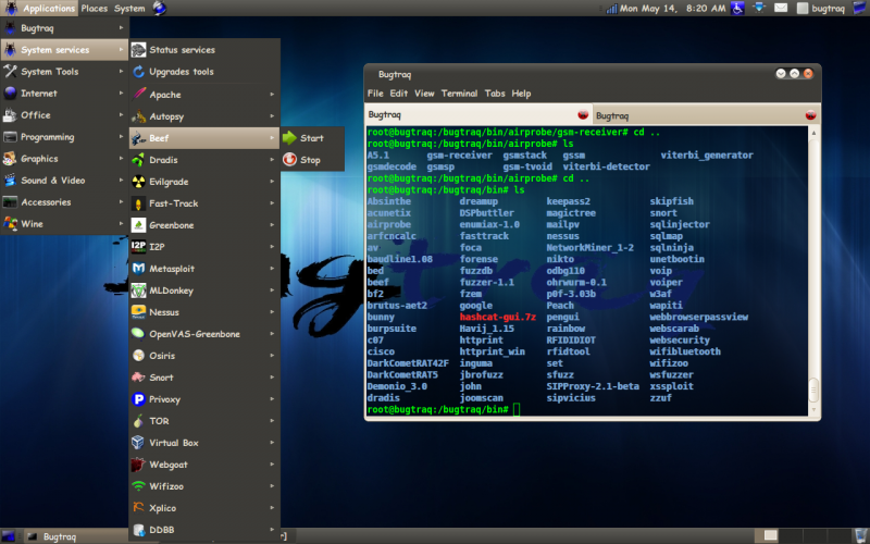 Best Linux Penetration Testing Distributions: bugtraq-tools