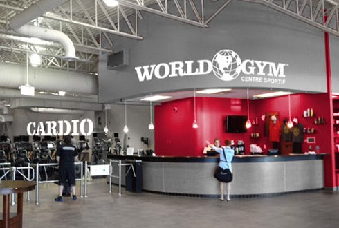 World Gym entrance