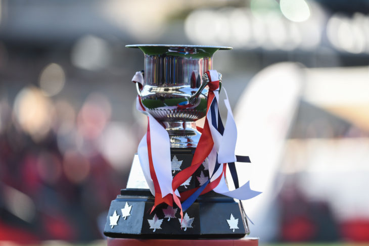 Canadian Championship 27 June 2017 - Toronto, ON, CAN Canada Soccer by Martin Bazyl Voyageurs Cup (trophy)