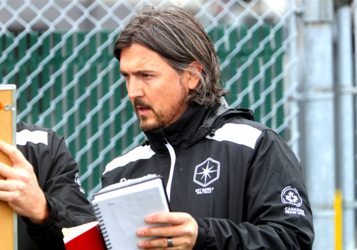 Cavalry FC head coach Tommy Wheeldon Jr.