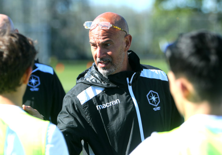 HFX Wanderers coach Stephen Hart during last year's Open Trials. (CPL)