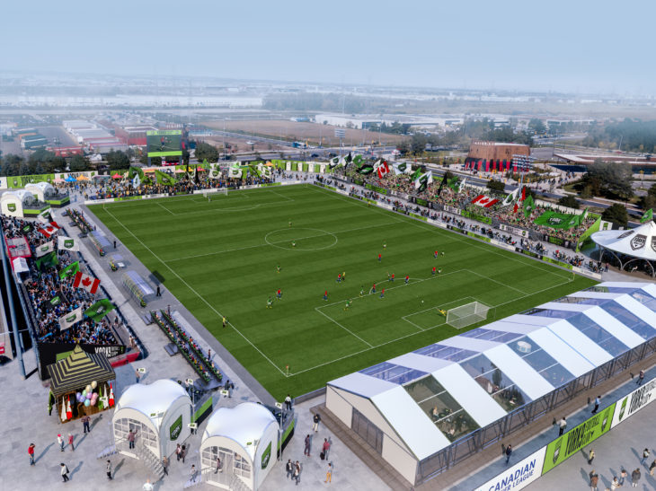 Nearby Alumni Field will serve as York 9's temporary home in Year 1 while York Lions Stadium is renovated. (Handout)