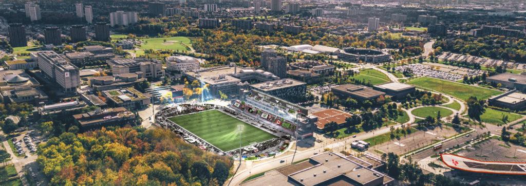 Rendering of York Lions Stadium. (York9 FC)