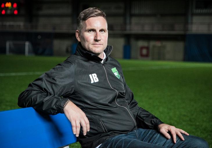 York9 FC head coach Jimmy Brennan.