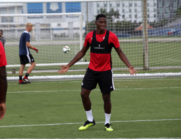 KAA Gents Jonathan David, pictured here during men's National Team Training 6 September 2018 - Bradenton, FL, USA Canada Soccer