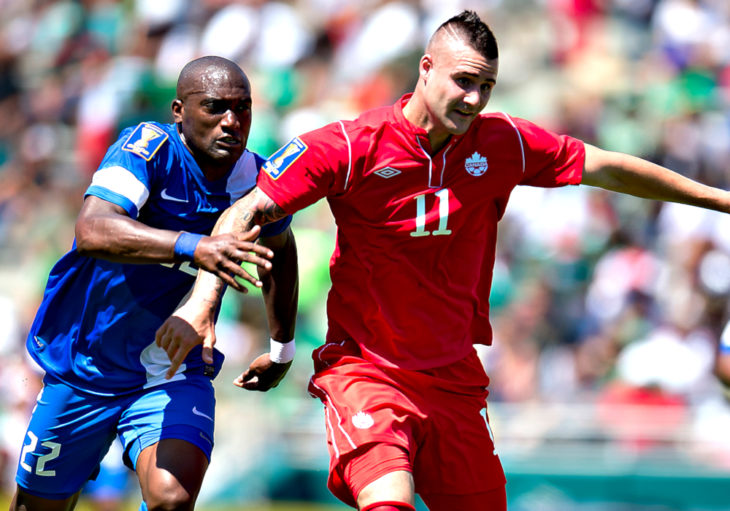 Marcus Haber with Canada's national team. (Canada Soccer)