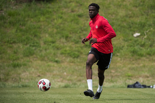 Skylar Thomas training with Canada's youth national team. (Canada Soccer)