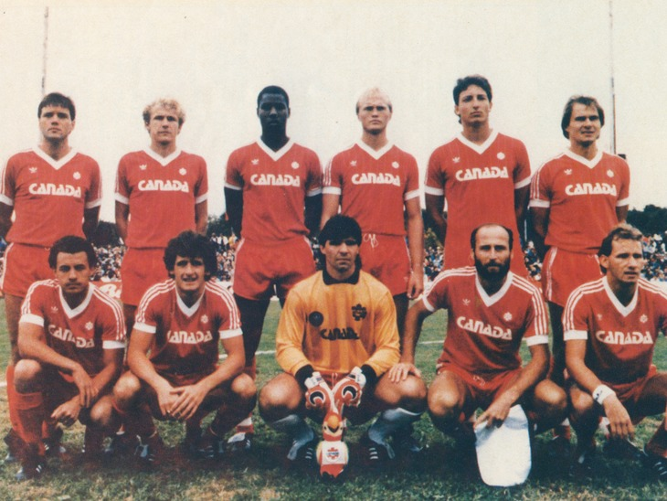 Canada's lineup in 1985. (Canada Soccer).